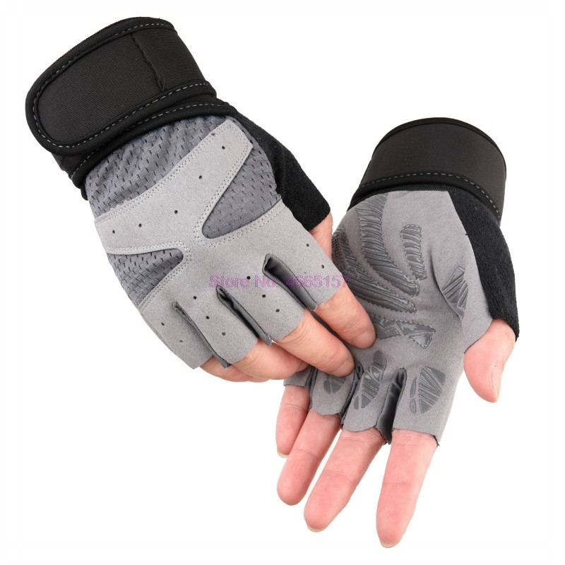 Half-Finger-Gloves Weightlifting Palm-Thickening Gym Fitness Yoga Breathable Sports Thin