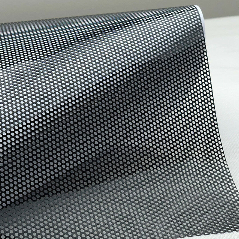 50cmx300cm Fly Eye Perforated Tint Mesh Film Black One Way Vision Car Scooter Motorcycle Headlight Rear Light Decal Sticker