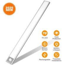 70 LED Closet Lights-USB Rechargeable Motion Sensor Under