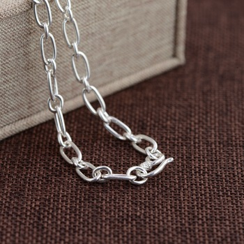 Antique Jewelry S925 Silver Necklace Collar Simple Process Ring Wholesale Fashion Exquisite Gift