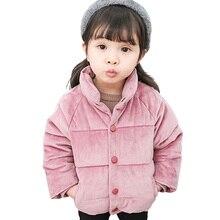 Abrigo de terciopelo dorado para niños, chaqueta de invierno 2018 para bebés y niños, ropa de abrigo cálida para niños, ropa de otoño para niños pequeños de 1, 2, 3, 4 y 5 años