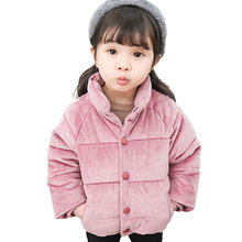 Kids Gold Velvet Down Coat 2018 Winter Baby Girls & Boys Jacket Warm Boys Outerwear Autumn Toddler Kids Clothes 1 2 3 4 5 Years