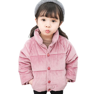 Image 1 - Kids Gold Velvet Down Coat 2018 Winter Baby Girls & Boys Jacket Warm Boys Outerwear Autumn Toddler Kids Clothes 1 2 3 4 5 Years