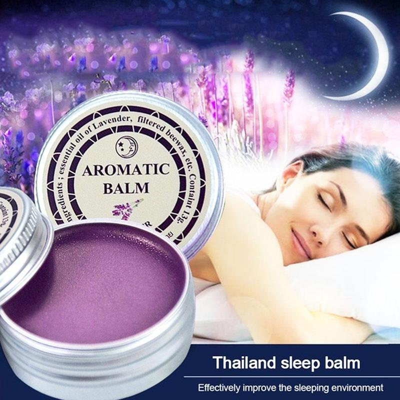 13g Lavender Sleepless Cream Spa Body Massage Aromatic Balm Hydration Skin Almond Oil Relax Stress Improve Sleep Essential Oil