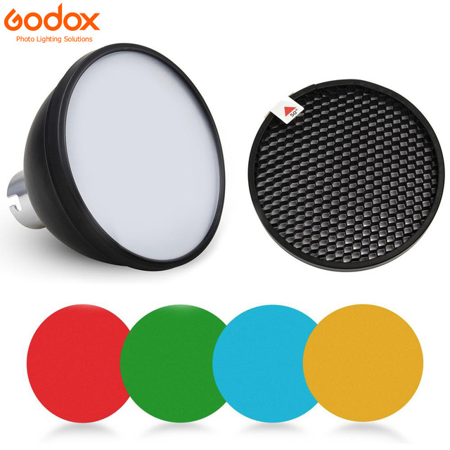 Godox AD S11 Color Gels Filter Honeycomb Grid +AD S2 Standard Reflector Soft Diffuser for Witstro AD 360 II AD360II AD180 AD200