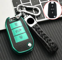 High Quality Soft TPU Flip Key Case Cover for Peugeot 208 3008 5008 for Citroen C4 Remote Fob