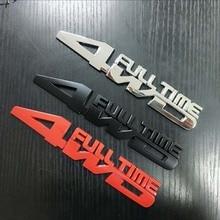 1pcs 3D metal Car four-wheel drive car stickers 4WD FULL TIME car Badge emblem for Jeep Renegade Compass Patriot Grand Cherokee стоимость