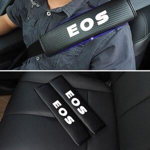 Hombreras reflectantes para cinturón de seguridad de coche, funda segura para cinturón de seguridad para Volkswagen VW EOS, piezas de coche 2 uds