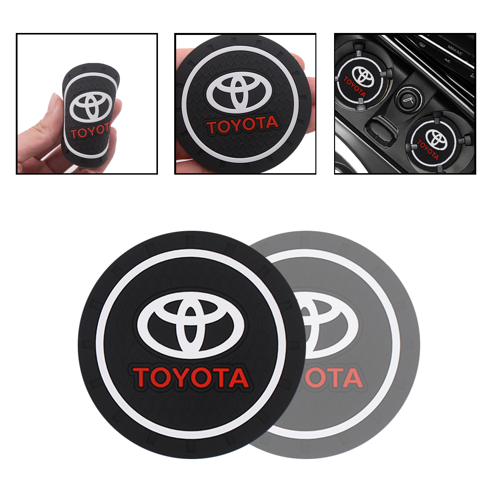 1pc Fashion Car Coaster Silicone Epoxy Coaster Car Decoration For Toyota RAV4 Avensis Yaris Levin Reiz Crown Vios Sienna Alphard