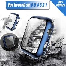 Для + Apple + Watch + serie + 6 + 5 + 4321 + 3SE + 42% 2F44mm + iWatch + Взрывозащищенное + стекло% 2BPC + чехол + 40% 2F38mm + бампер + экран + протектор% 2Bcover + аксессуары
