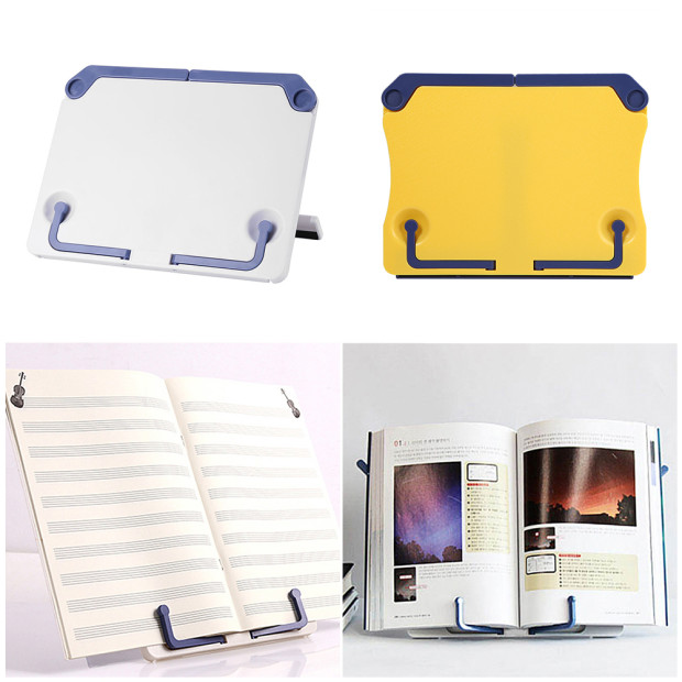 Portable Bookends Stand Reading Book Stand Books Music Score Recipe Shelf Cookbook Bookend Tablet Folding Holder Organizer