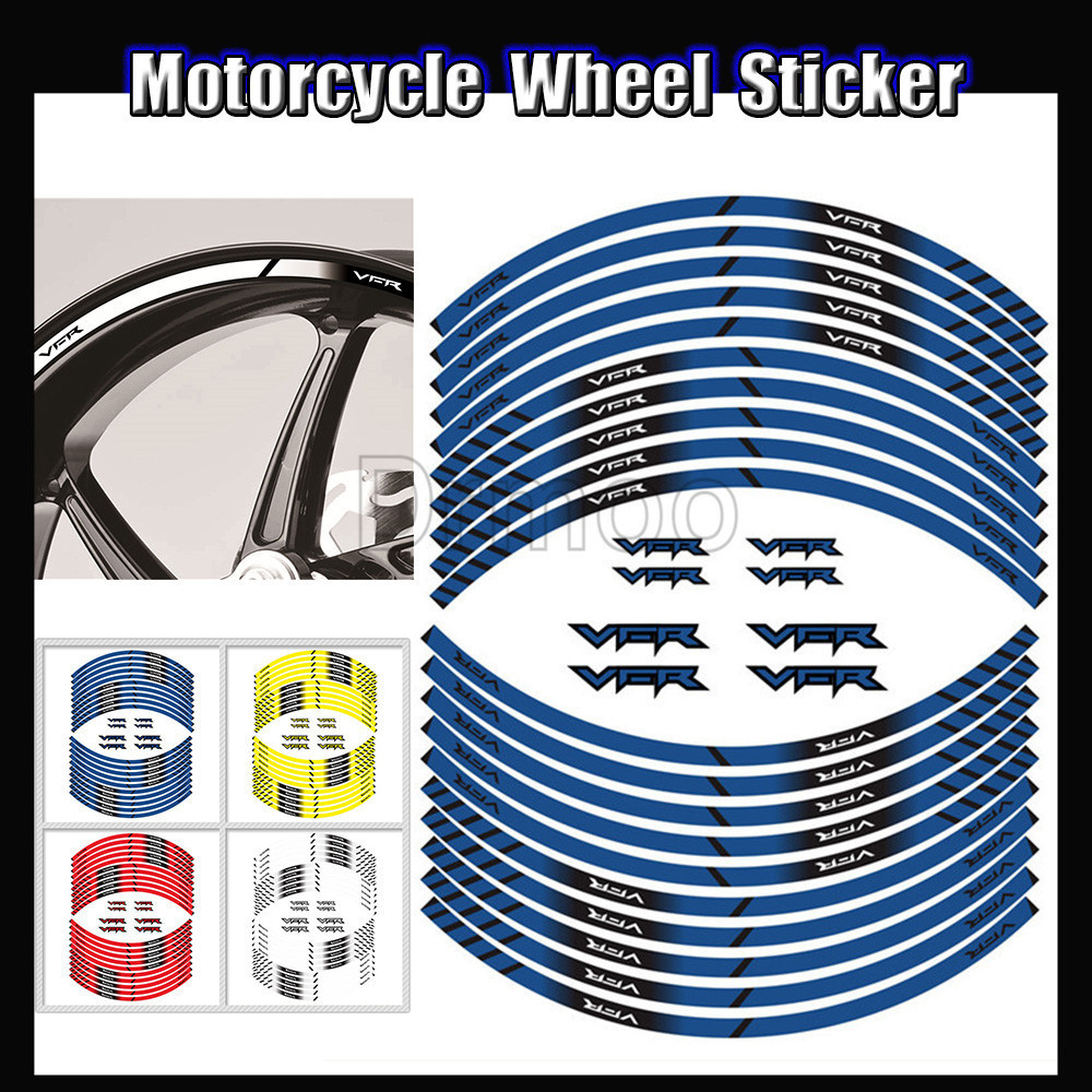 Motorcycle Accessories Sticker Edge Outer Tire Rim Strips Stickers Wheel Decals For Honda VFR 1200 800 1200X ABS 400R image