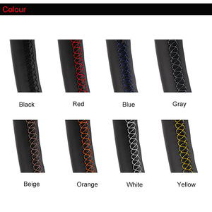 Image 4 - Artificial Leather car steering wheel braid for Gol Tiguan Passat B7 Passat CC Touran/Custom made Steering cover