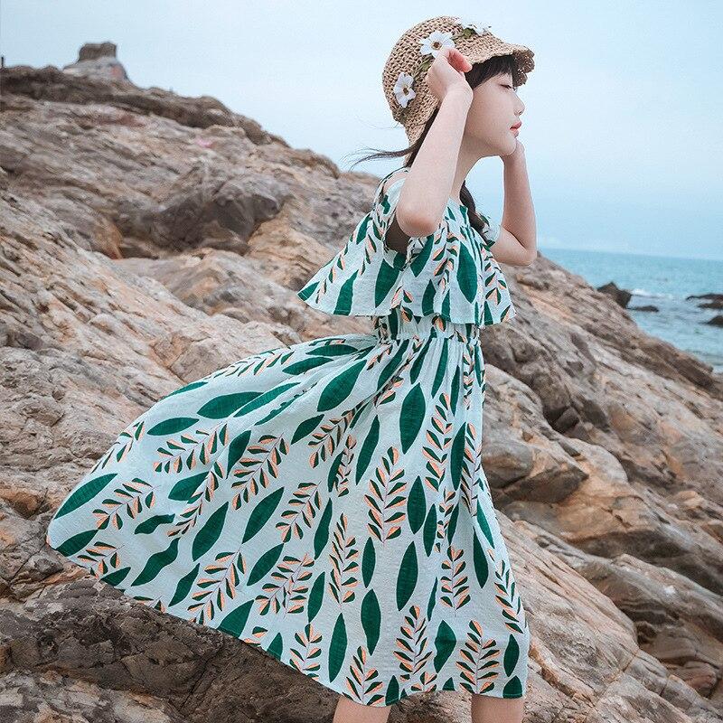 Girls Dress 2020 Summer Baby Girls Cute Beach Dress Holiday Vacation Kids Dresses For Girls 4 6 8 10 12 14Y Children Clothing
