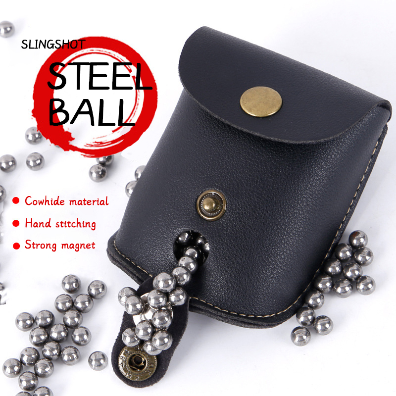 Professional Steel Ball Ammo Mag Pouch Outdoor Sports Hunting Accessories Slingshot Package Catapult Bag Back Through The Belt