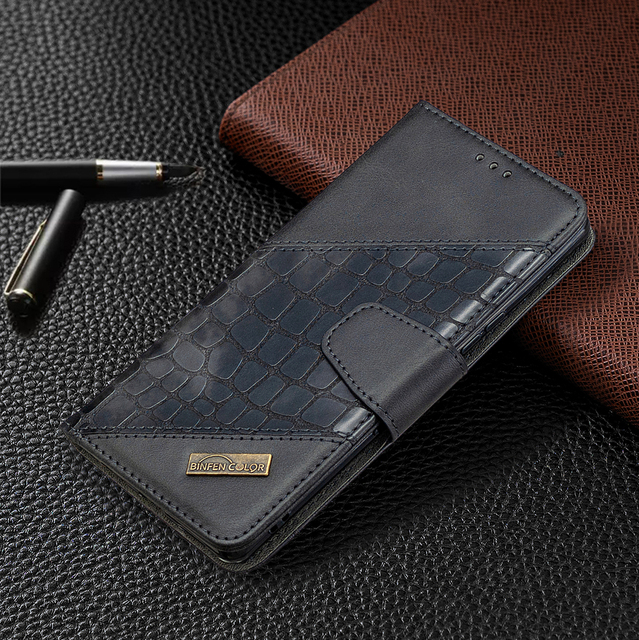 Luxury Leather Case For Samsung Galaxy S20 Ultra S10 Note10 Lite S9 Plus Crocodile Flip Book Case For Samsung S 20 Note 10 Plus