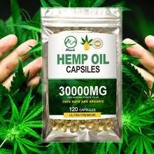Minch mais novo óleo de cânhamo cápsulas alívio da dor natural cbd óleo softgel cápsulas 3000mg suplemento dietético orgânico para melhor sono