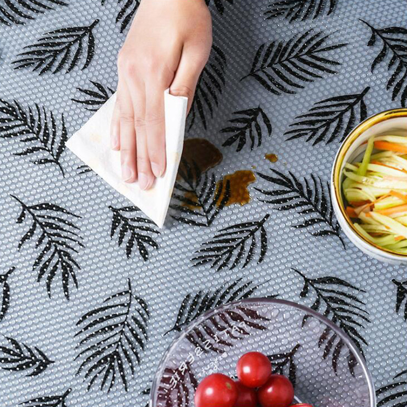45*122cm Oil-proof moisture Kitchen Table Drawer Shelf Liner mats cabinets pad paper Non Slip Cupboard Placemat Liners