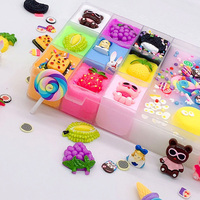 Gift Fluffy Slime Plasticine Decoration Cute Cartoon Stress Relieve Craft Kids DIY Art Toys Ten Grids Non Toxic Funny