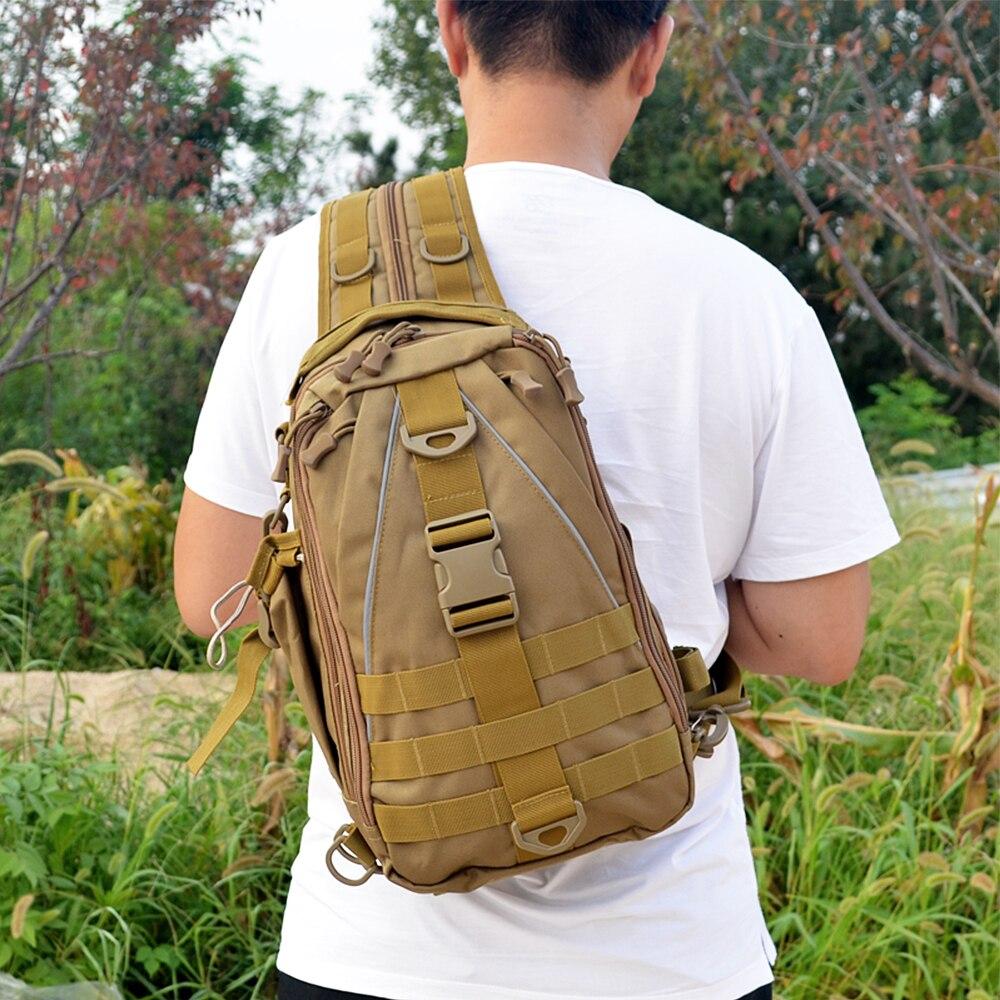 Многофункциональная тактическая сумка, рюкзак для рыбалки, походов, охоты, нагрудный ремень, военный рюкзак
