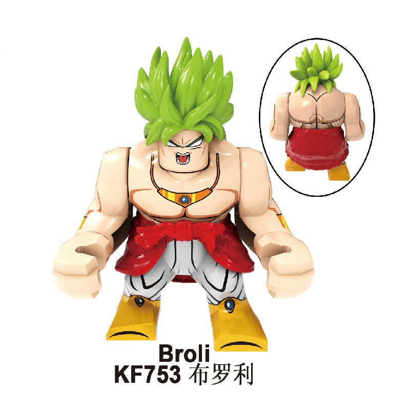 KF6073 uyumlu DragonBalling Saiyan broly büyük montaj blokları beyin oyunu hediye dekorasyon çocuk oyuncakları bulmaca