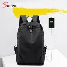 купить Waterproof Nylon Backpack for Women Multi Pocket Travel Backpacks School Bag for Teenage  Unisex USB Backpack mochila feminina по цене 956.13 рублей