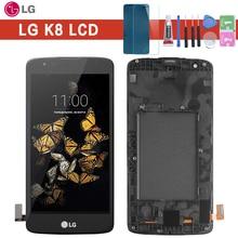 新 5.0 インチ液晶 lg K8 lte K350N K350E K350DS lcd ディスプレイとタッチスクリーンデジタイザ国会
