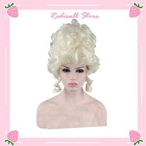 Pelo sintético Afro rizado reina Cosplay peluca Halloween resistente al calor fiesta juego de rol Retro estilo adulto mujeres cabello