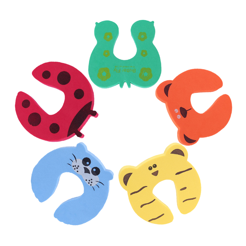 5Pcs/Lot Card Door Stopper Security Protection Baby Safety For Newborn Cute Animal Care Child Lock Finger Protector