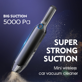 Car Vacuum Cleaner Car Cleaner 5000mah Battery Portable Handheld Cleaner Home Wired Cleaner Wireless Light Weight Strong Suction xiaomi roidmi xcq01rm portable handheld strong suction vacuum cleaner z25