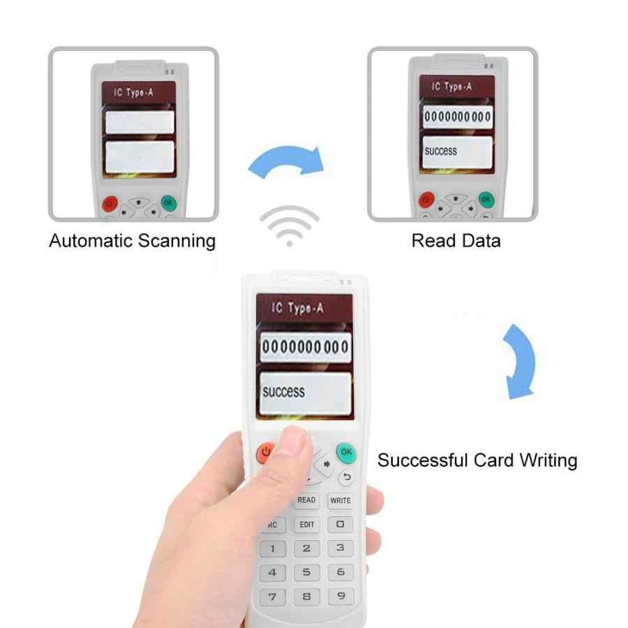 Usb icopy 3/5 スマートカードライターic/idデュプリケータrfidタグコピー機とフルデコード機能スマートカードキーマシン