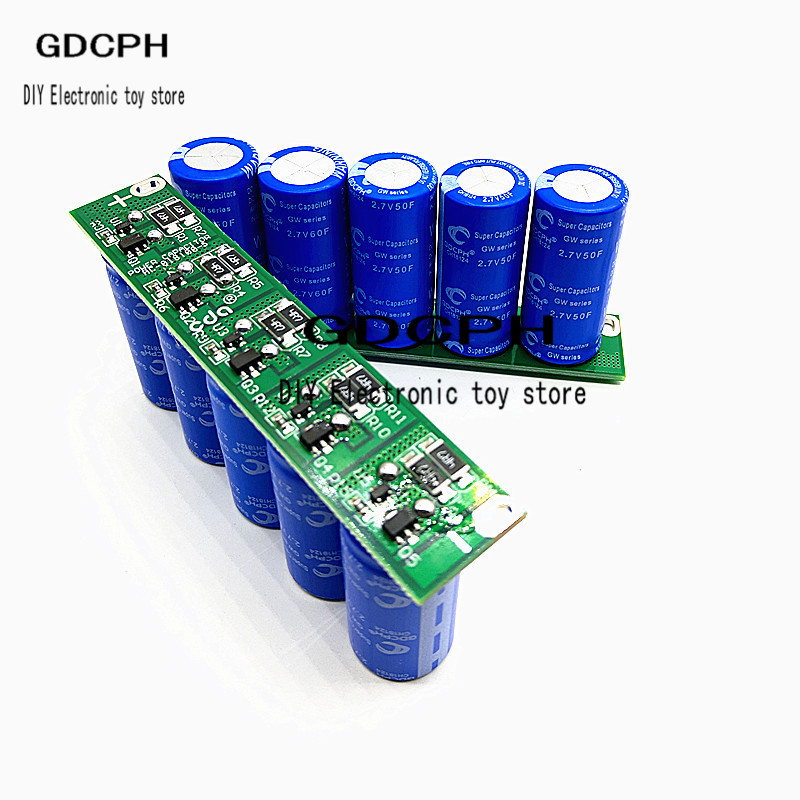 13.5v 10F Super Capacitor Set Backup Power Supply Large Current Capacitor Module 2.7v 50F
