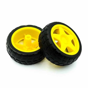 Rubber wheels/robots/tracking and patrol car accessories Smart car tires chassis wheels 40g image