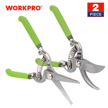 WORKPRO 2PC 8 Pruning Shears Set Garden Tools Mainly Used In Home Gardening Scissors Sharp Scissors