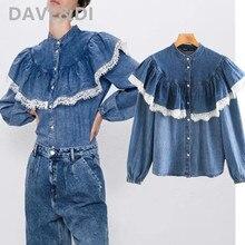Dave&Di new denim blouse women england high street peter pan