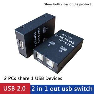 USB printer sharer USB auto Sharing Switch For 2 PC Computer Printers 2 Port Hub switcher 2 hosts share one printer USB sharer(China)