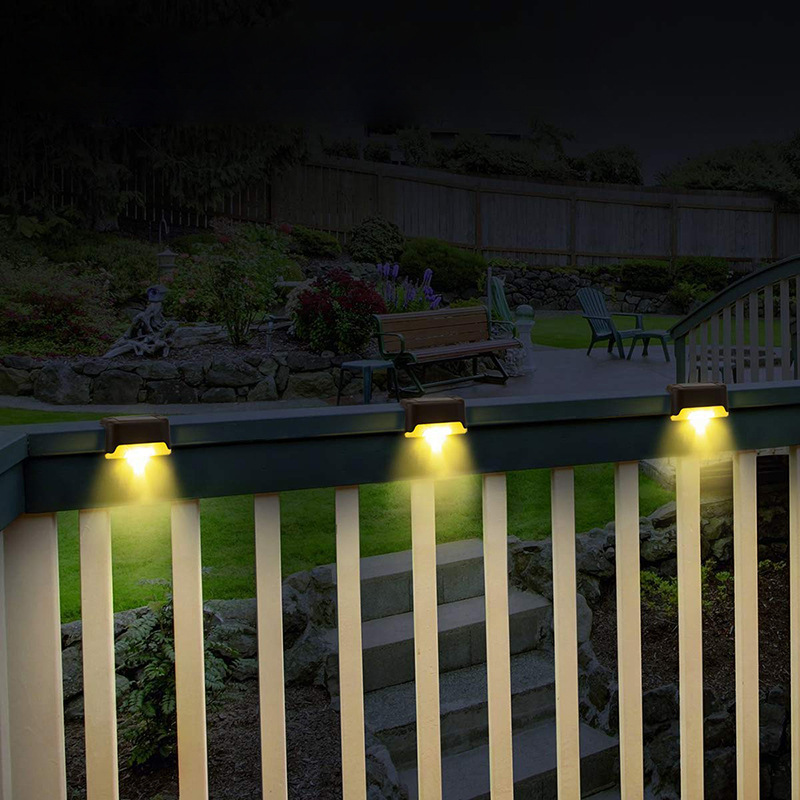 Solar Deck Lights Outdoor Solar Step Lights Waterproof Led Solar Lights For Outdoor Stairs Fence Yard Patio And Pathway