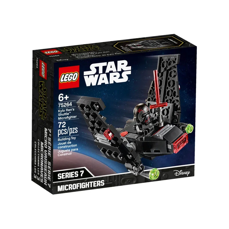 <font><b>LEGO</b></font> 75264 <font><b>Star</b></font> <font><b>Wars</b></font> Series Kylo Ren's Shuttle Microfighter Building Block 4 <font><b>Minifigures</b></font> Toy A Great Gift for Kids image