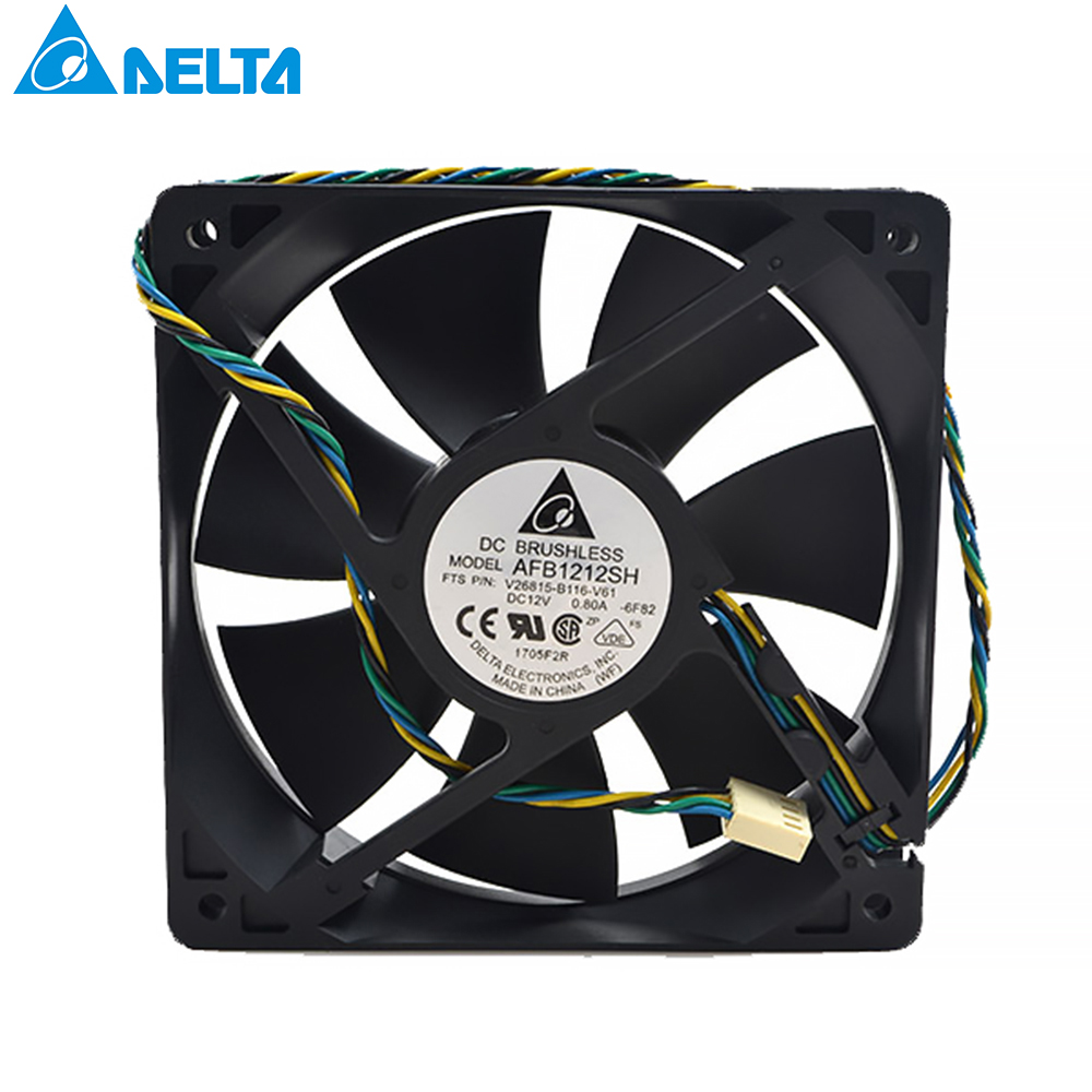 For Delta  AFB1212SH 12CM 1225 12025 120X120X25MM PWM 4 PIN DC 12V 0.80A Cooling Fan Good Quality