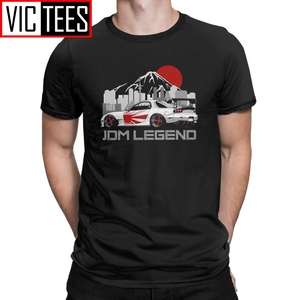 Man's RX7 JDM Men T Shirts Japanese Cars Sportcar Engine T-Shirts Unique Round Neck Short Sleeves Tops Purified Cotton Tee Shirt(China)