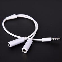 Y divisor cabo 3.5mm 1 macho para 2 dupla fêmea cabo de áudio para fone de ouvido fone de ouvido mp3 mp4 estéreo plug adaptador jack