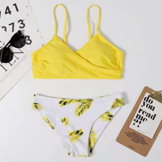 Women's swimsuit Bikini Swimwear Floral Random Print Bikini Set Push-Up Bikinis Sexy Biquini Swim Suit Female Beachwear Swimming 6