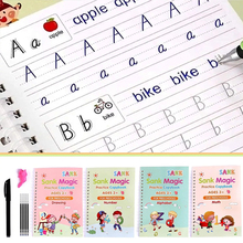 Magic 3D Repeatable Writing Calligraphy Handwriting Copybook Set Writing Board Practice book for Kid Calligraphy Alphabet letter