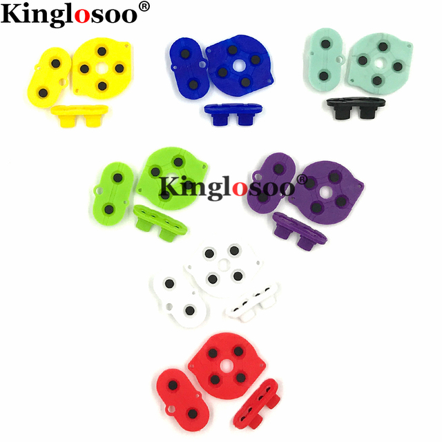 Couleurs caoutchouc conducteur bouton A B d pad pour jeu garçon couleur GBC coque boîtier silicone démarrage sélectionnez clavier