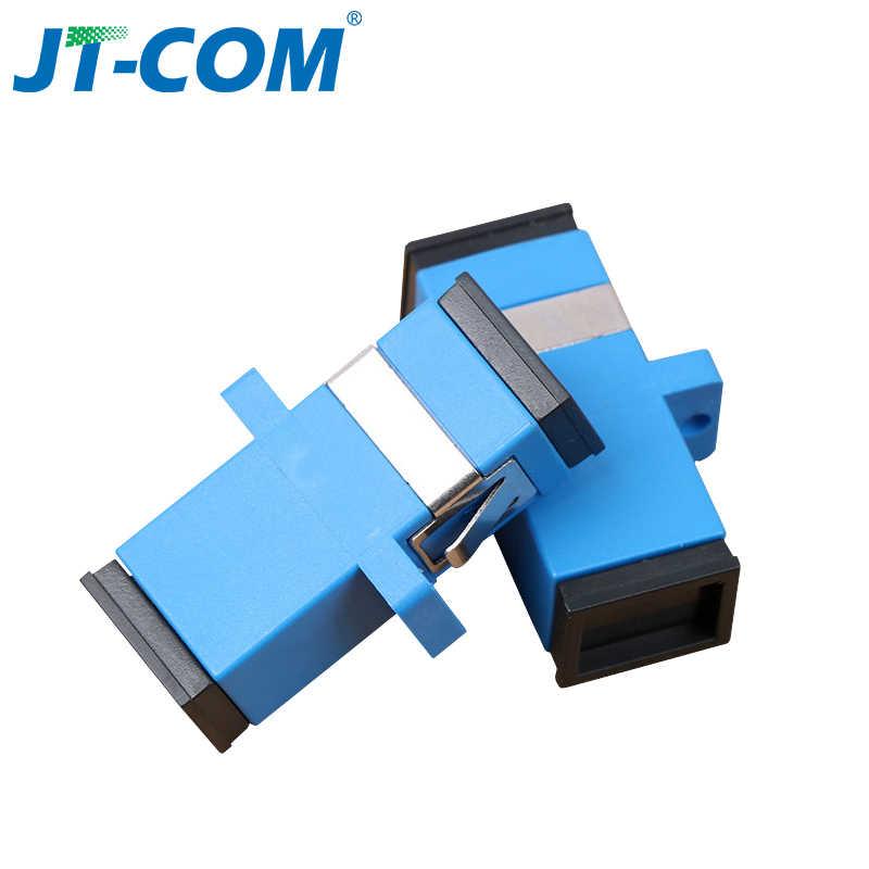 ¡Envío gratis! 200 Uds. SC adaptador de conector de fibra óptica SC/UPC SM brida Singlemode Simplex SC-SC acoplador APC al por mayor