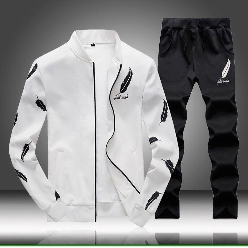 Осень 2020, 2 предмета, костюмы с капюшоном для мужчин, спортивный костюм, спортивный костюм, Homme, свитшот, мужская толстовка с капюшоном + jogger ...