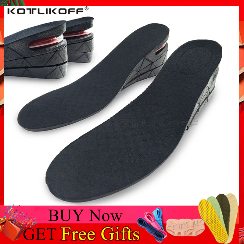 KOTLIKOFF Height Increase Insole Cushion Elevator Insoles Height Lift 3-9cm Adjustable Shoe Heel Insert Taller Unisex Foot Pads