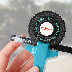 Blue Embossing Label Maker for MOTEX E101 Upgrade Version CIDY C101 Mini DIY Manual Typewriter fit for 9mm 3D label Tape