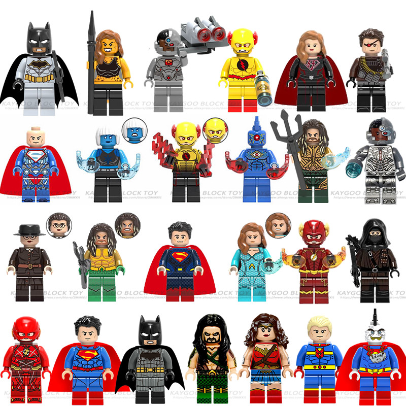Single Sale Justice League Movie Super Heroes Aquaman Cyborg Superman Doll Batman Wonderwoman Legoelys Avengers Building Blocks
