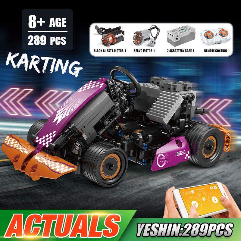 MOULD KING 18026 High-tech Car Toys The APP RC Motorized Go-Kart Racing Car Model Building Blocks